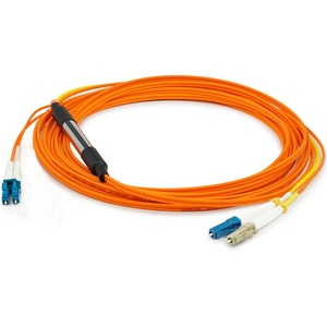 AddOn 1m LC (Male) to LC (Male) Orange OM1 & OS1 Duplex Fiber Mode Conditioning Cable - 100% compatible and guaranteed to work