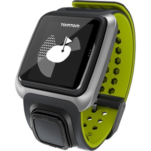 Tomtom Golfer GPS Watch - Wrist - Calories Burned - 144 x 168 - GPS - 10 Hour - Dark Gray, Bright Green - Golf, Tracking, Health & Fitness - Water Resistant