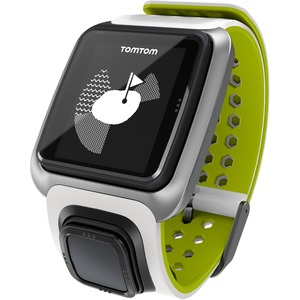 Tomtom Golfer GPS Watch - Wrist - Calories Burned - 144 x 168 - GPS - 10 Hour - White, Green - Golf, Tracking, Health & Fitness - Water Resistant