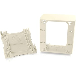 C2G Wiremold Uniduct Double Gang Extra Deep Junction Box - Ivory - Ivory
