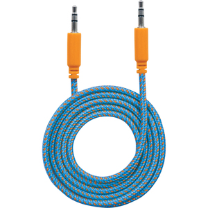 Manhattan 3.5mm Stereo Male to Male, Blue/Orange, 1.8 m (6 ft.)