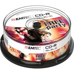 CD-R EMTEC Classic 700 Mo ( 80 min ) 52x - ECOC802552CB