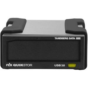 Tandberg RDX QuikStor 8782-RDX Drive Dock External - Black - 1 x Total Bay - USB 3.0