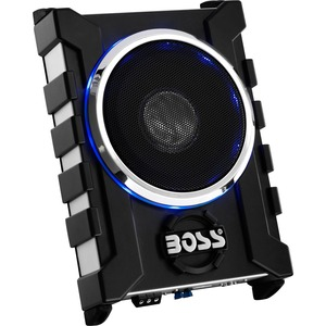 "Boss Audio Three Channel 1300 Watt  8"" Low Profile Amplified Subwoofer with Remote Bass Con"