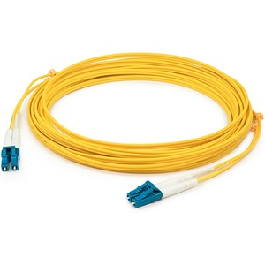 AddOn 50m Single-Mode fiber (SMF) Duplex LC/LC OS1 Yellow Patch Cable