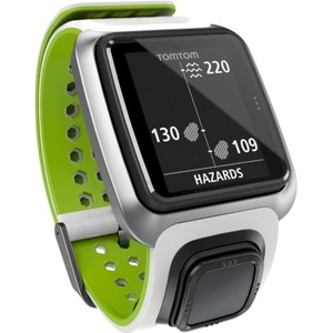Tomtom Golfer GPS Watch - Wrist - Calories Burned - 144 x 168 - GPS - 10 Hour - Sky Blue - Golf, Tracking, Health & Fitness - Water Resistant