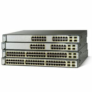 CISCO WS-C3750G-24PS-S Catalyst 3750G-24PS Stackable Gigabit Ethernet Switch