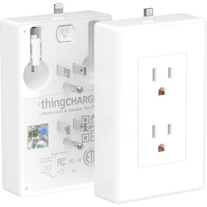 P3 International ThingCHARGER for USB Devices w/ Lightning & MicroUSB Power Tips