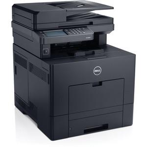 Dell C3765DNF Laser Multifunction Printer - Color - Plain Paper Print - Desktop - Copier/Fax/Printer/Scanner - 36 ppm Mono/36 ppm Color Print - 600 x 2400 dpi Print - Support Plain Paper, Thick Paper, Heavy Paper, Label, Envelope, Postcard, Recycled Paper