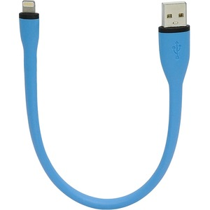 Gear Head 10 inch Flexible USB to Lightning Cable - Blue
