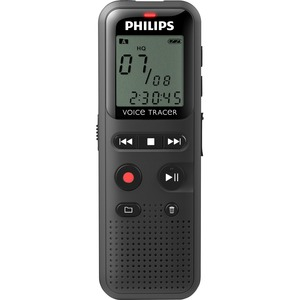 "Philips Voice Tracer Audio Recorder Notes Recording DVT1150 - 4 GB - 1.3"" LCD - WAV - Headphone - 295 HourspeaceRecording Time - Portable"