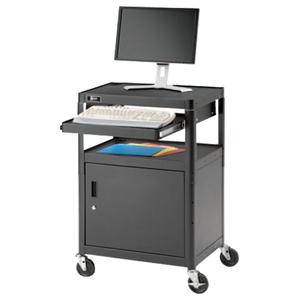 Da-Lite PIXMobile AVCT2-42J A/V Equipment Cart with Keyboard Shelf