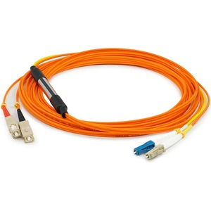 AddOn 10m Cisco CAB-MCP-LC-10M Compatible LC (Male) to SC (Male) Orange OM1 & OS1 Duplex Fiber Mode Conditioning Cable - 100% compatible and guaranteed to work