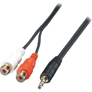 LINDY AV Adapter Cable - 3.5mm Male to 2 x RCA Female
