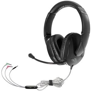 Hamilton Buhl Trios Multimedia Headset w/ Steel Reinforced Flexible Mic, Black - Stereo - Black - Wired - Over-the-head - Binaural - Circumaural - 5 ft Cable