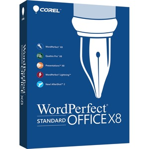 Corel WordPerfect Office v.X8 Standard Edition - Box Pack (Upgrade) - 1 User - Office Suite Mini Box - PC - English, French