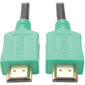 Tripp Lite 10ft High Speed HDMI Cable Digital A/V 4K x 2K UHD M/M Green 10' - HDMI for Monitor, Projector, TV, iPad, A/V Receiver, Audio/Video Device, Blu-ray Player - 1.28 GB/s - 10 ft - 1 x HDMI Male Digital Audio/Video - 1 x HDMI Male Digital Audio/Vid