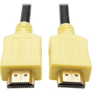 Tripp Lite 10ft High Speed HDMI Cable Digital A/V 4K x 2K M/M Yellow 10' - HDMI for Monitor, Projector, TV, iPad, A/V Receiver, Audio/Video Device, Blu-ray Player - 1.28 GB/s - 10 ft - 1 x HDMI Male Digital Audio/Video - 1 x HDMI Male Digital Audio/Video