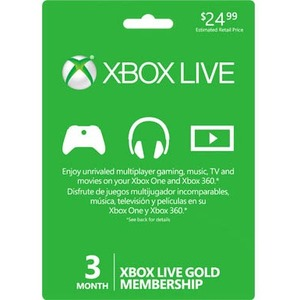 Microsoft Live Subscription Card - 3 Months