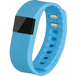 MYEPADS X64 Smart Band - Wrist - Pedometer - Alarm, Sleep Monitor - Sleep Quality, Steps Taken, Distance Traveled, Calories Burned - 64 KB - 64 KB Standard Memory - 64 x 32 - Bluetooth - Bluetooth 4.0 - 96 Hour - Blue - Thermoplastic Polyurethane (TPU) -