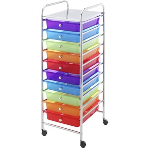Whitmor 10-Drawer Storage Cart - Multi-Color