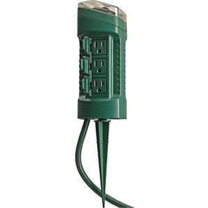 Coleman Cable 6-Outlet Power Stake Timer