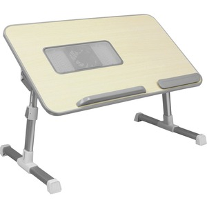 """Aluratek Adjustable Ergonomic Laptop Cooling Table with Fan - Rectangle Top - 20.50"""" Table Top Width x 12.50"""" Table Top Depth - 12.50"""" Height - Aluminum Alloy"""