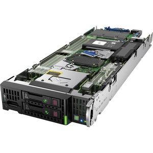 HP ProLiant BL460c G9 Blade Server - 2 x Intel Xeon E5-2640 v4 Deca-core (10 Core) 2.40 GHz - 2 Processor Support - 64 GB Standard/512 GB DDR4 SDRAM Maximum RAM - 12Gb/s SAS RAID Supported, Serial ATA/600 Controller - Gigabit Ethernet, 10 Gigabit Ethernet