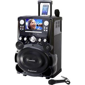 "DOK Solutions GP978 Pro DVD/CDG/MP3G Karaoke Player w/ 7"" Display & Tote Wheels"