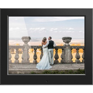 "Aluratek 8"" Slim Digital Photo Frame with Auto Slideshow Feature - 8"" LCD Digital Frame - Black - 1024 x 768 - Cable - 4:3 - JPEG - Slideshow, Clock, Calendar - USB - Desktop"