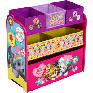 Delta Children PAW Patrol, Skye & Everest Multi-Bin Toy Organizer - Toy Storage - Kids Room - Adds Character to Any Room - Room Decor