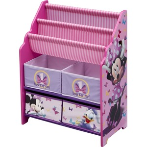 Delta Children Minnie Mouse Book & Toy Organizer - Toy Storage - Kids Room - Adds Character to Any room - Room Decor