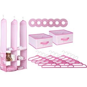 Delta Children 24-Piece Nursery Storage Set, Barley Pink - Closet Storage - Organization - Includes Everything You Need - Bring Order to Baby's Space