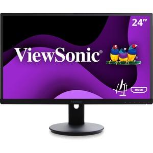 "Viewsonic VG2453 24"" LED LCD Monitor - 16:9 - 5 ms - 1920 x 1080 - 16.7 Million Colors - 250 Nit - 20,000,000:1 - Full HD - Speakers - HDMI - VGA - DisplayPort - USB - 45 W - ENERGY STAR 7.0, EPEAT Gold"