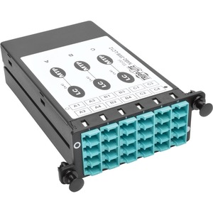 Tripp Lite 40GB -10GB Breakout Cassette x3 8-Fiber OM4 MTP/MPO to 12 LC Dup - For Data Networking, Optical Network 3 MTP, 12 LC Duplex - Optical Fiber