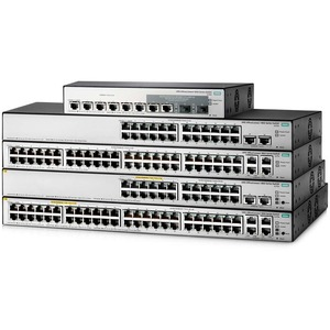 HP OfficeConnect 1850 48G 4XGT PoE+ 370W 24-Port Switch w/ 2 Expansion Slots