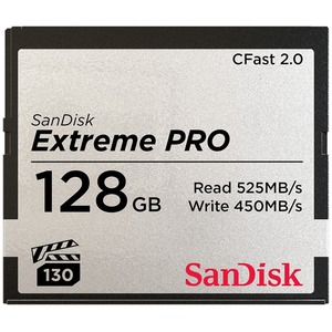 SanDisk Extreme Pro 128 GB CFast Card - 525 MB/s Read - 450 MB/s Write