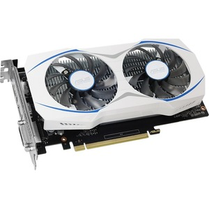 Asus DUAL-GTX1050TI-O4G GeForce GTX 1050 TI Graphic Card - 1.34 GHz Core - 1.46 GHz Boost Clock - 4 GB GDDR5 - PCI Express 3.0 - Dual Slot Space Required - 128 bit Bus Width - Fan Cooler - DirectX 12, OpenGL 4.5 - 1 x DisplayPort - 1 x HDMI - 1 x Total Nu