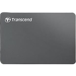"Transcend StoreJet 25C3 1 TB Portable Hard Drive 2.5"" External SATA Iron Gray Desktop PC Device Supported USB 3.0 3 Year Warranty TS1TSJ25C3N"