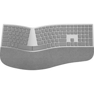 Microsoft Surface Ergonomic Keyboard - Wireless Connectivity - Bluetooth - Compatible with Notebook (Windows) - QWERTY Keys Layout - Gray