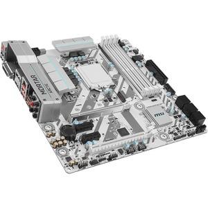 MSI B250M MORTAR ARCTIC Desktop Motherboard - Intel B250 Chipset - Socket H4 LGA-1151 - Micro ATX - 1 x Processor Support - 64 GB DDR4 SDRAM Maximum RAM - 2.40 GHz, 2.13 GHz Memory Speed Supported - DIMM - 4 x Memory Slots - CrossFire Support - Serial ATA