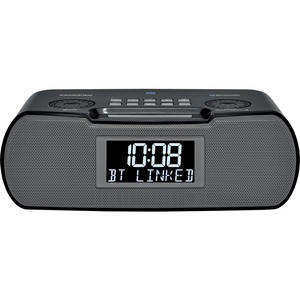 Sangean RCR-20 Clock Radio - 2 x Alarm - AM, FM - USB - Battery Built-in