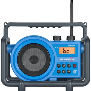 Sangean FM / AM / Bluetooth / Aux-in Ultra Rugged Digital Tuning Receiver - 5 x FM, 5 x AM PresetsLCD Display - 4 x C - Desktop