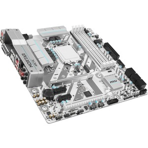 MSI H270M MORTAR ARCTIC Desktop Motherboard - Intel H270 Chipset - Socket H4 LGA-1151 - Micro ATX - 1 x Processor Support - 64 GB DDR4 SDRAM Maximum RAM - 2.40 GHz, 2.13 GHz Memory Speed Supported - DIMM - 4 x Memory Slots - CrossFire Support - Serial ATA