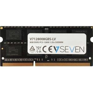 V7 8GB DDR3 PC3-12800 - 1600mhz SO DIMM Notebook Memory Module - V7128008GBS-LV - 8 GB (2 x 4 GB) - DDR3 SDRAM - 1600 MHz DDR3-1600/PC3-12800 - Unbuffered - 204-pin - SoDIMM