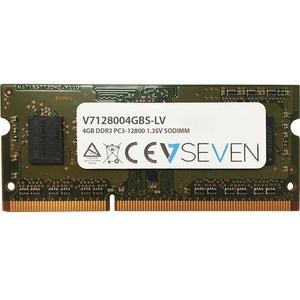 V7 4GB DDR3 SDRAM Memory Module - 4 GB - DDR3 SDRAM - 1600 MHz DDR3-1600/PC3-12800 - Unbuffered - 204-pin - SoDIMM