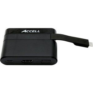 Accell USB-C Mini Dock - HDMI 2.0, USB-A 2.0, and USB-C Charging Port