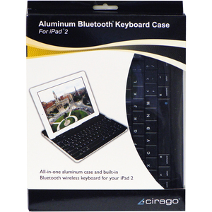 """Cirago Keyboard/Cover Case for iPad - Aluminum - 7.5"""" Height x 9.7"""" Width"""