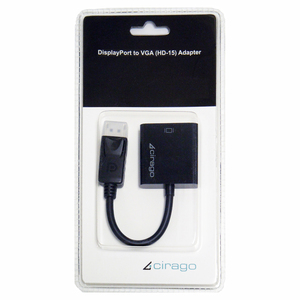 Cirago Video Cable - DisplayPort/VGA for Monitor, Projector, TV - 4""