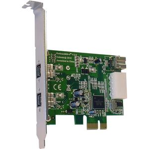 Unibrain FireBoard800-e V.2 3 Port FireWire Adapter - PCI Express x1 - Plug-in Card - 3 Firewire Port(s) - 1 Firewire 400 Port(s) - 2 Firewire 800 Port(s) - PC, Mac
